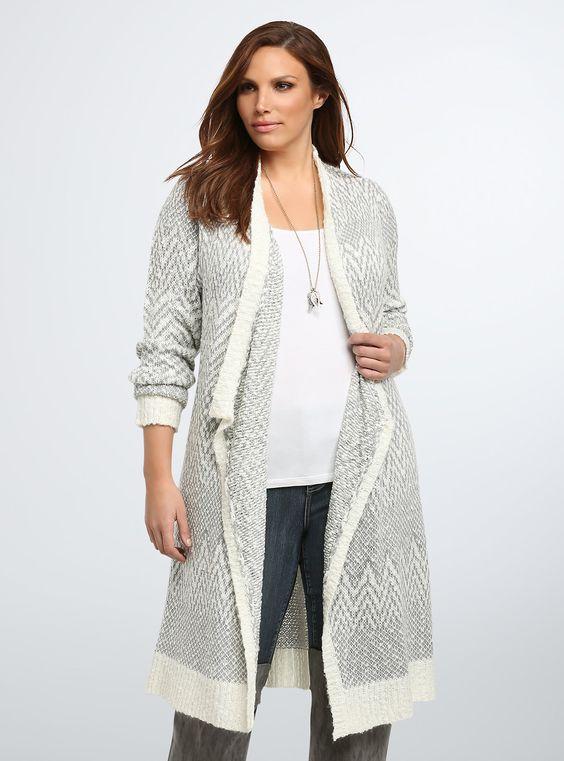 Áo khoác len dài