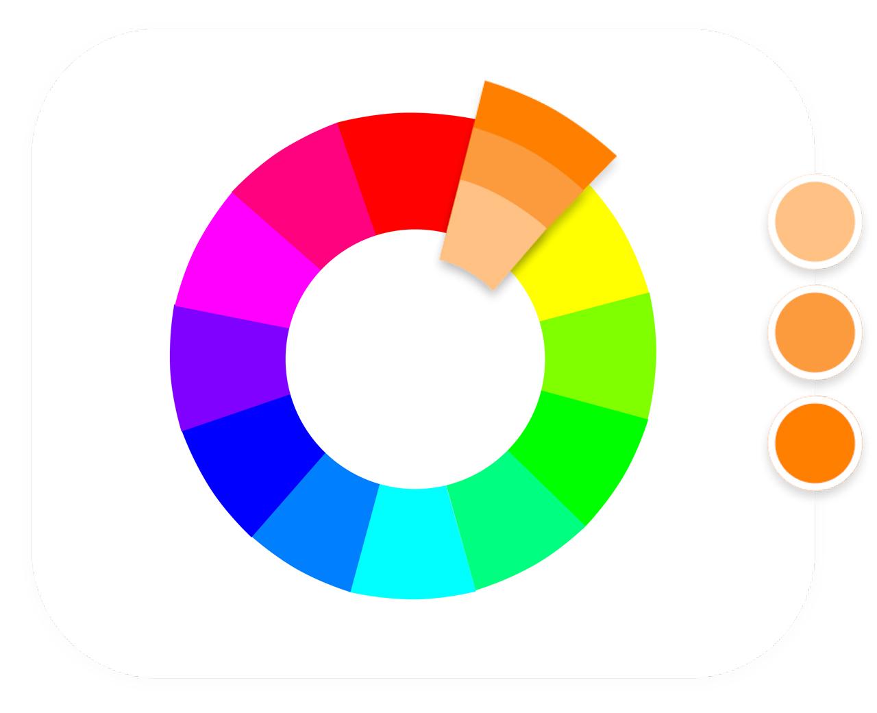 Màu đơn sắc trong bánh xe màu sắc