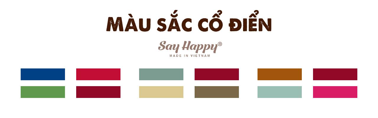 Màu sắc cổ điển trong bảng phối màu quần áo