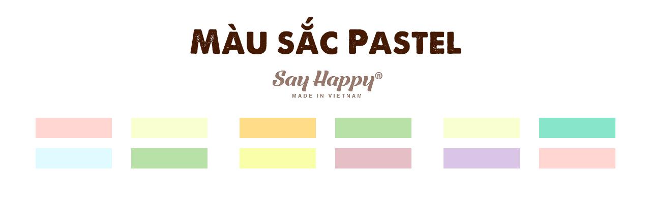 Màu sắc pastel trong bảng phối màu quần áo