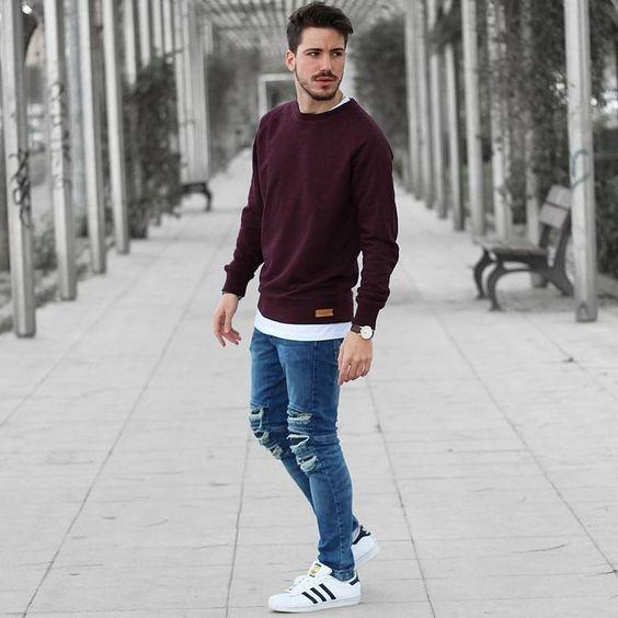Áo sweater và jean