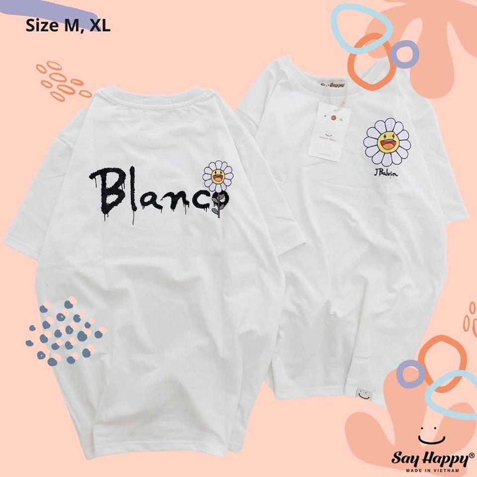 Áo blanco hoa cúc màu trắng say happy