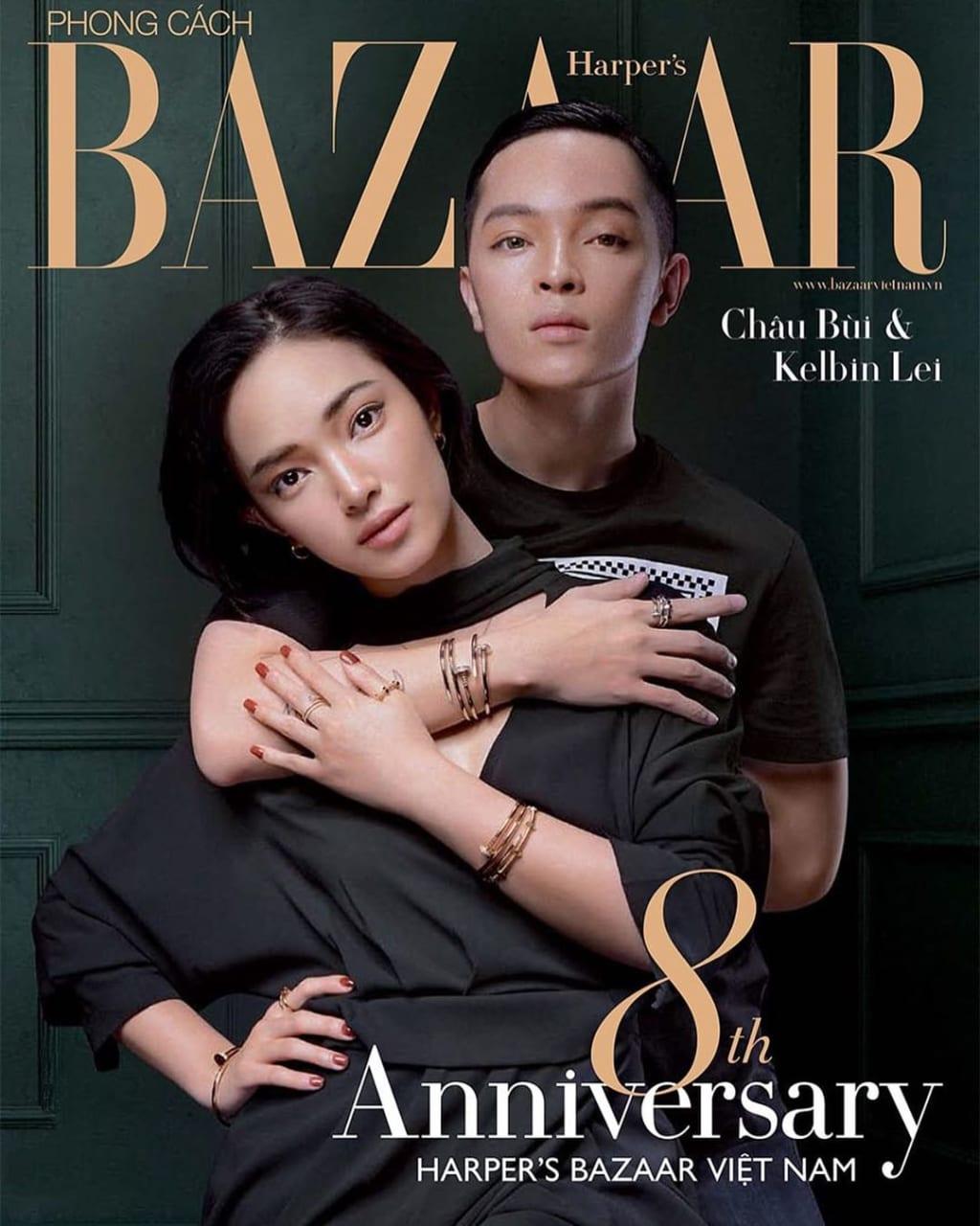 Châu Bùi trên tạp chí Bazaar kỷ niệm 8 năm