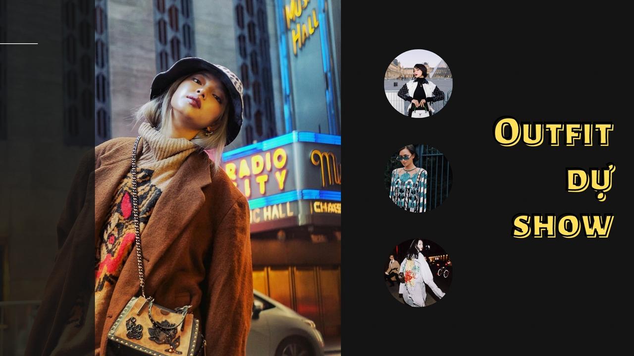 Châu Bùi phối đồ dự các show thời trang như thế nào