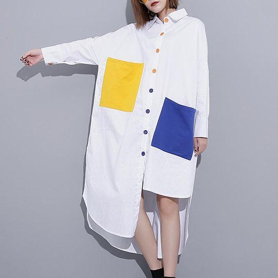 Color block được phối nhẹ nhàng với màu trắng là chủ đạo