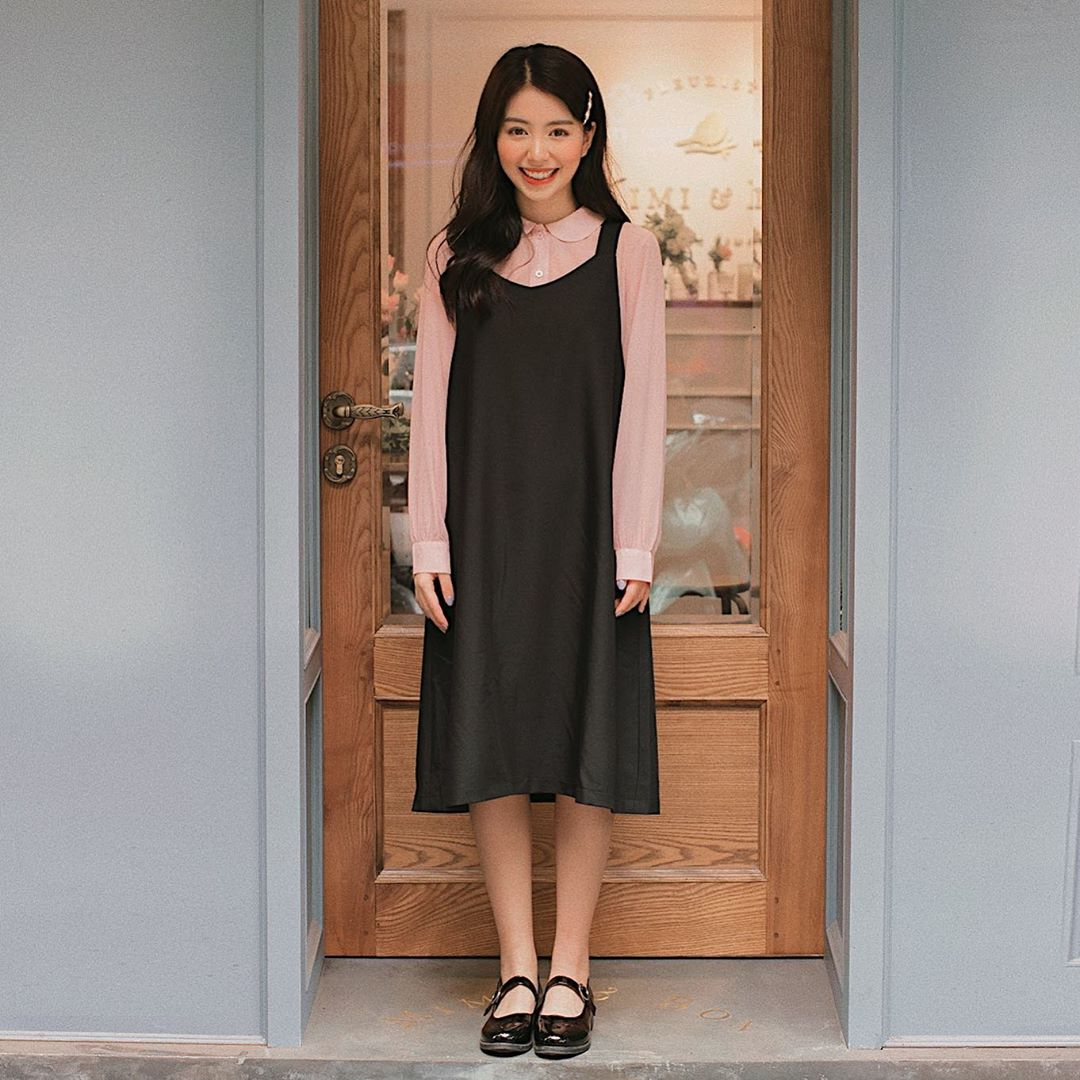 Mẫn Tiên thích lựa chọn những chiếc váy dài