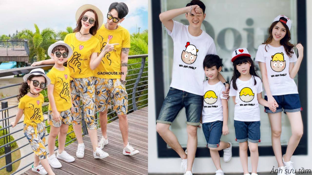 Áo đồng phục gia đình thích hợp kể cả da mẫn cảm của trẻ nhỏ